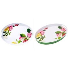 Kate Spade New York Melamine Floral Serving Tray ($52) ❤ Liked On Polyvore  Featuring
