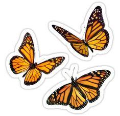 'monarch butterfly sticker pack orange' Sticker by Katie's S.- 'monarch butterfly sticker pack orange' Sticker by Katie's Stickers - Tumblr Stickers, Phone Stickers, Journal Stickers, Cool Stickers, Printable Stickers, Orange Butterfly, Monarch Butterfly, Butterfly Design, Frühling Wallpaper