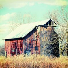 Barn in the heartland Stretched Canvas