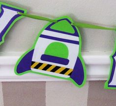 Buzz Lightyear Rocket Inspired HAPPY BIRTHDAY Banner  by Devany, $20.00