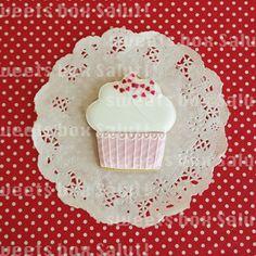 ホワイトデーにカップケーキのアイシングクッキー | sweets box Salut!