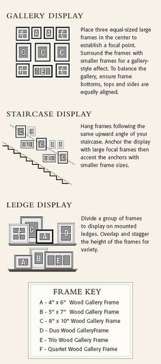 New Wall Gallery Stairway Photo Arrangement Ideas Stairway Pictures, Gallery Wall Staircase, Staircase Wall Decor, Stairway Decorating, Picture Wall Staircase, Ideas For Stairway Walls, Staircase Frames, Wall Decor For Stairway, Picture Frames On The Wall Stairs