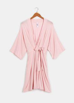Bundle up in this ultra soft organic bamboo robe  Nina 3/4 Sleeve Robe