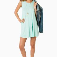Shift Away Dress in Mint