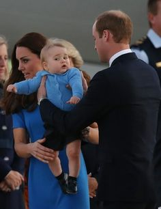 Prince George and his parents ~ 2014~