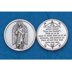 25 Archangel Raphael Prayer Coins