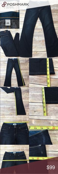 💄Sz 28 Paige Hidden Hills Bootcut Dark Wash Jeans Measurements are in photos. Normal wash wear, no flaws. D3  I do not comment to my buyers after purchases, do to their privacy. If you would like any reassurance after your purchase that I did receive your order, please feel free to comment on the listing and I will promptly respond. I ship everyday and I always package safely. Thanks! Anthropologie Jeans Boot Cut
