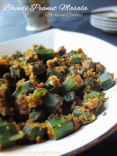 Bhindi aka Okra aka Lady finger has been my favorite vegetable since childhood. I loved Bhindi so much that I can even eat it raw. I love to cook it in different styles and with different recipes. Usually I cook bhindi with lots of onions, … Jain Recipes, Indian Veg Recipes, Okra Recipes, Garlic Recipes, Curry Recipes, Vegetable Recipes, Vegetarian Recipes, Healthy Recipes, Cooking Recipes