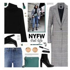"""""""NYFW Street Style"""" by tamara-p ❤ liked on Polyvore featuring Uniqlo, Chloé, Kate Spade, Yves Saint Laurent, Victoria Beckham, Bobbi Brown Cosmetics, Madewell, Rimmel, Smith & Cult and contestentry"""