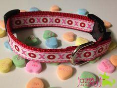 Super cute Valentine dog collar!  XoXo  $15