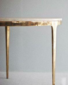beautiful bronze table by Barbera Design