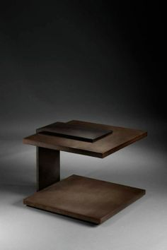 pinto - cantilevered wooden end table / coffee table