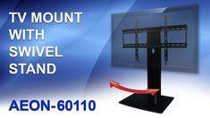 Swivel TV Stand with mount. Table Top TV Stand-Review by AV Express http://www.av-express.com/AV-Catalog/tv-wall-mount-with-shelf-tv-stand-with-mount