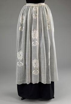Cotton apron 1760-70