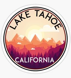lake tahoe california sticker