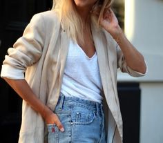 White tee and jeans