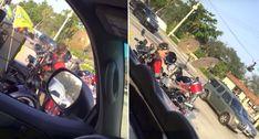Baterista Motociclista Oferece Música Ao Vivo Enquanto Circula Nas Estradas