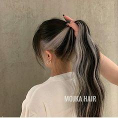 Hidden Hair Color, Two Color Hair, Hair Color Streaks, Hair Dye Colors, Hair Color For Black Hair, Hair Highlights, Hair Color Underneath, Brown Blonde Hair, Aesthetic Hair