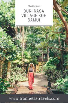Checking in at Buri Rasa Village Koh Samui