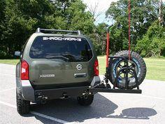 2005-2013 Xterra Rear Bumper & Spare Tire Carrier
