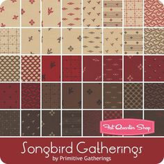 Songbird Gatherings Charm Pack Reservation<br/>Primitive Gatherings for Moda Fabrics