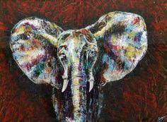 "Saatchi Art Artist LoveJoy Creations; Painting, ""Elephant Ears"" #art"