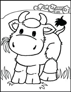 Cute Farm Animal Coloring Pages from Animal Coloring Pages category. Printable coloring pictures for kids that you could print and color. Have a look at our collection and print out the coloring pictures for free. Farm Animal Coloring Pages, Coloring Pages To Print, Free Printable Coloring Pages, Coloring Book Pages, Coloring Sheets, Colouring Pics, Coloring Pages For Kids, Kids Coloring, Free Coloring