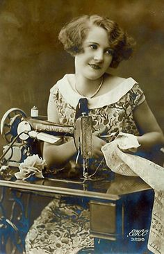 vintage sewing #profession #woman #work Antique & Vintage Sewing Finds, Patterns, Fabric, Projects www.rubylane.com @rubylanecom