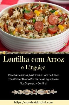 Easy Cooking, Cooking Recipes, Brazilian Dishes, Good Food, Yummy Food, Carne, Side Dishes, Risotto, Food And Drink