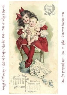 Calendar Sunday – Resinol Soap Calendar 1905 and Baby's Record | Wings of Whimsy