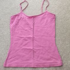 Cotton camisole Pink cotton camisole with adjustable straps. Gently used. No tags. Fits like XS. Tops Camisoles
