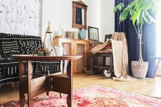 Vintage Turkish rugs are in high demand in this long-lasting age of transitional-modern and bohemian design. The right pattern, color palette and texture in a kilim fabric can instantly bring a space to life. In Turkey, these textiles are not just a trend —they are a traditional, symbolic and integral facet of each space.Nez and Yasin Kaya's love of vintage rugs started on the day of their engagement when Yasin brought a kilim to Nez's mother to ask for Nez's hand in marriage. It grew when…
