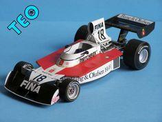 F1 Paper Model - 1974 GP Monaco Surtees TS16 Paper Car Free Template Download