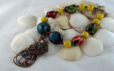 Get 30% Off this Colorful Pendant Necklace with Eco-Friendly Tagua Nut Beads by Junebug Jewelry Designs