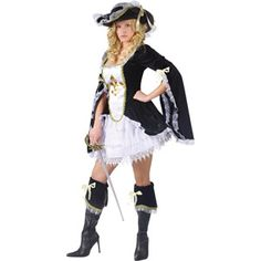 Midnight Musketeer Adult Halloween Costume
