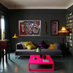 Living Room with SabineBlaskoArt MandalaFlowOfTime