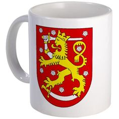 Finland Coat of Arms Mug: I remember the Coat of Arms plaque, at my grandparents.:))