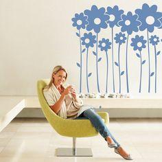 (220n) Nálepky na stenu - Margaréty   ARTSABLONY.SK Wall Murals, Inspiration, Wallpaper Murals, Biblical Inspiration, Murals, Wall Prints, Mural Painting, Inspirational, Mural Art