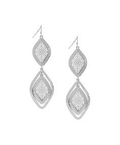 Silver filigree earrings (Jessica Simpson)