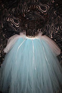 Disney princess Cinderalla inspired costume blue tutu skirt via Etsy.