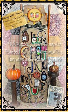 Whimsical Folk Sampler - Painted by Martha Smalley, Painting With Friends E Pattern by PaintingWithFriends on Etsy