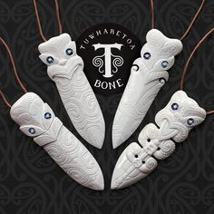 Traditional and Contemporary Maori Bone Carvings by TuwharetoaBone Deer Antler Crafts, Soapstone Carving, Bone Crafts, Maori Tattoo Designs, Soap Carving, Wood Sculpture, Abstract Sculpture, Bronze Sculpture, Bone Jewelry