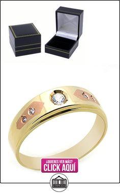 Pequeños Tesoros - Anillo de hombre - Anillo de compromiso y boda de oro 0.3ct Circonita Oro dos tonos  ✿ Joyas para hombres especiales - lujo ✿ ▬► Ver oferta: https://comprar.io/goto/B00BFX989A