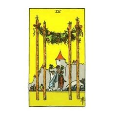 """Interested in tarot card reading? Learn and understand the meaning of each card. Check out the meaning of the card """"Four of Wands"""". Tarot Cards For Beginners, Tarot Card Spreads, Tarot Card Meanings, Cartomancy, Taurus And Gemini, Oracle Cards, Card Reading, Book Of Shadows, Cool Cards"""