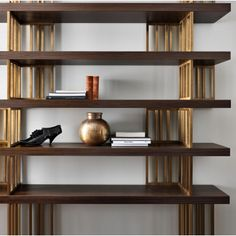 Biblioteca Daytona SMLD3480 Daytona, Wood Shelves, Bookcase, Contemporary, Luxury, Interior, Shelf, Design, Home Decor