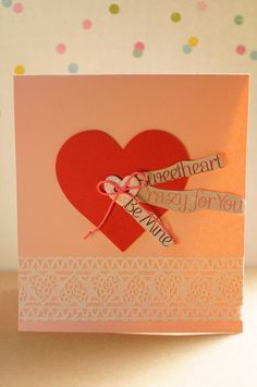 A personal favorite from my Etsy shop https://www.etsy.com/listing/177759610/my-heart-handmade-valentines-card