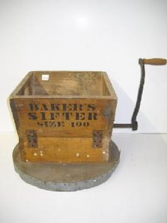 antique baker sifter