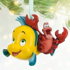 Flounder and Sebastian Sketchbook Ornament | Sketchbook Ornament Collection | Disney Store
