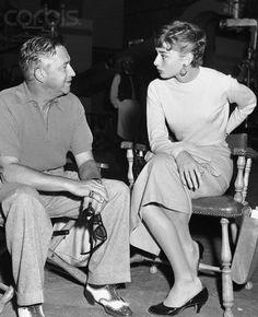 Audrey Hepburn with director Mervyn LeRoy