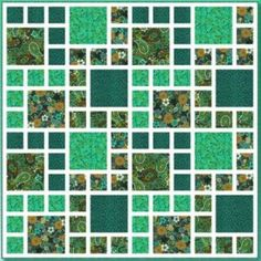 """""""Honeybell Green"""" free quilt pattern, designed by Jessica J.E. Smith, courtesy of Blank Quilting"""